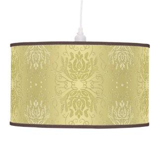 Elegant Antique Look Gold Damask Hanging Lamp