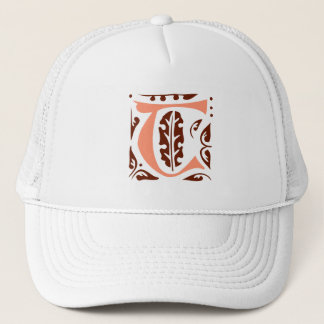Elegant antique medieval letter T Trucker Hat