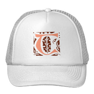 Elegant antique medieval letter T Trucker Hat