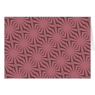 Elegant Antique Pink Kaleidoscope Design Card