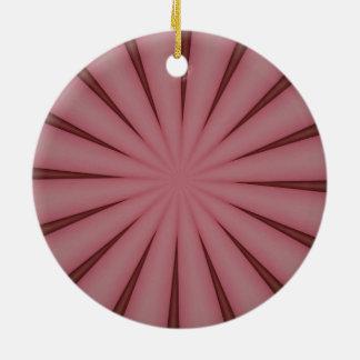 Elegant Antique Pink Kaleidoscope Design Ceramic Ornament