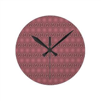 Elegant Antique Pink Kaleidoscope Design Clock