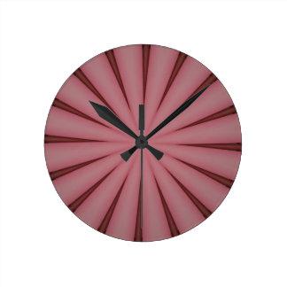 Elegant Antique Pink Kaleidoscope Design Clocks