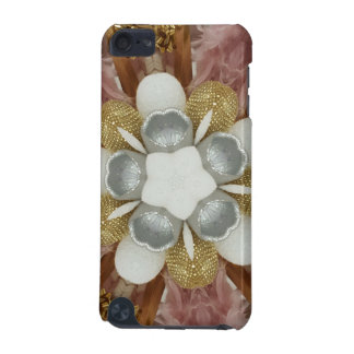 Elegant Antique Pink Silver Gray Gold White Flower iPod Touch 5G Covers