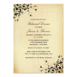 "Elegant Antique Swirls Wedding Rehearsal Dinner 5"" X 7"" Invitation Card"