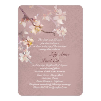 Elegant Apple Blossoms Wedding Invitation
