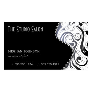Elegant Appointment Business Card Black