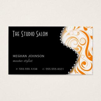 Elegant Appointment Business Card Orange