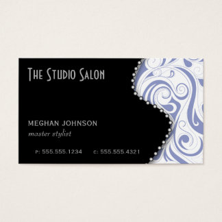 Elegant Appointment Business Card Periwinkle