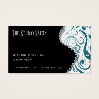 Elegant Appointment Business Card Teal