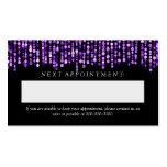 Elegant Appointment Card Purple String Lights Pack Of Standard Business Cards