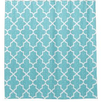 Elegant Aqua Blue Damask Moroccan Pattern