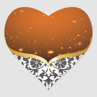 Elegant Arabian Heart Sticker
