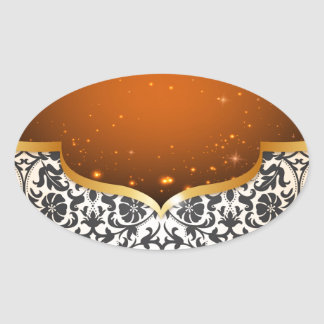 Elegant Arabian Oval Sticker