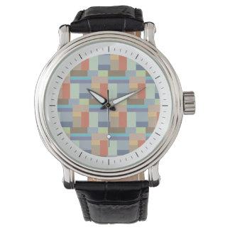 Elegant Architecture Retro Geometric Pattern Watch