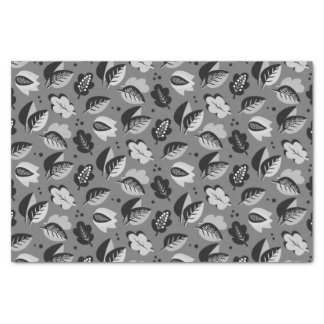Elegant Art Deco Fall Leaves Autumn Pattern Tissue Paper