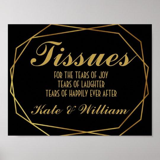 Elegant art deco Gold & Black tissues Poster
