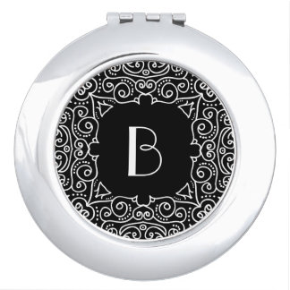 Elegant Art Deco Monogram Travel Mirrors