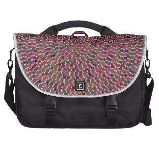 Elegant Artist created Energy Texture GOODLUCK fun Laptop Messenger Bag