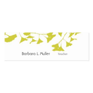 Elegant Artistic Nature Golden Ginkgo Mini Business Card