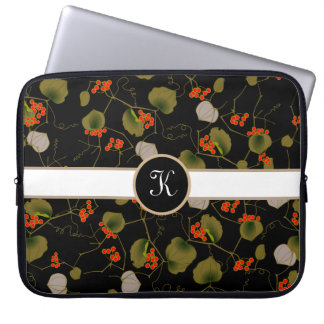 Elegant Asian Floral Laptop Sleeve