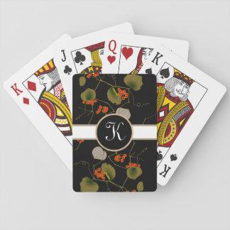 Elegant Asian Floral Poker Deck