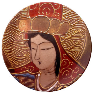 Elegant Asian Woman Porcelain Decorative Plate Porcelain Plate