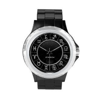 Elegant Astrology Signs - 12 Zodiac Symbols Wrist Watch