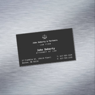 Elegant Attorney at Law | Law Firm Magnetic Business Card
