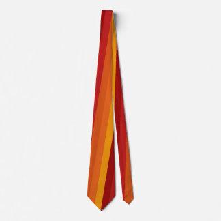 Elegant Autumn Stripe Colourful Tie