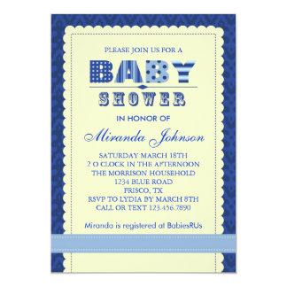 """Elegant Baby Boy Shower Invitation 5"""" X 7"""" Invitation Card"""