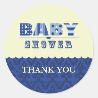 Elegant Baby Shower Favor Sticker