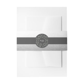Elegant Baby's Breath Wreath Special Silver Invitation Belly Band