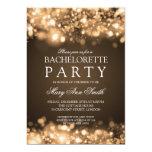 Elegant Bachelorette Party Sparkling Lights Gold 5x7 Paper Invitation Card
