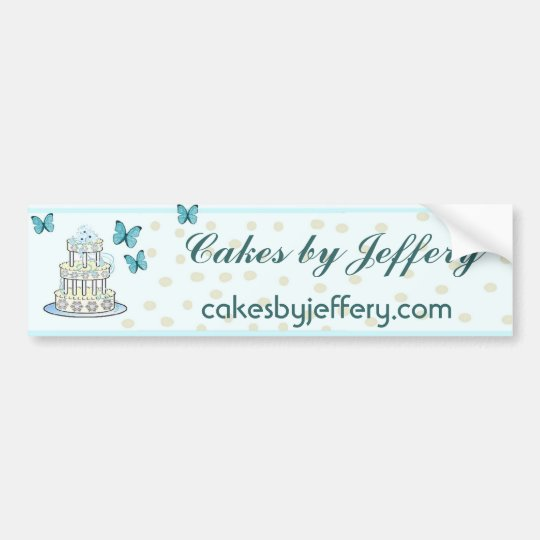 Elegant Bakery Bumpersticker Bumper Sticker