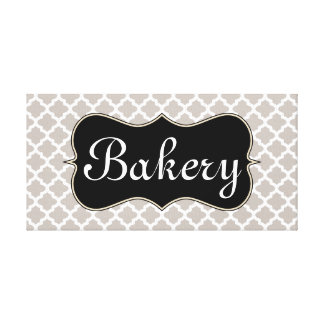 Elegant Bakery Sign Canvas Art Gallery Wrapped Canvas