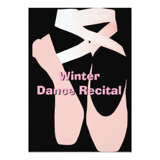 Elegant Ballet Dance Recital Invitation