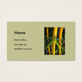 Elegant Bamboo personal business card template