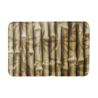 Elegant Bamboo Tropical Island Wood Bath Mat