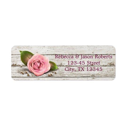 elegant barnwood pink rose  floral country wedding
