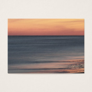 Elegant Beach Sunset Blank Business Card