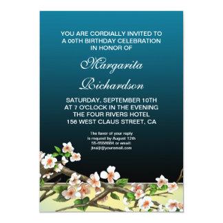 elegant beautiful blue birthday invitations
