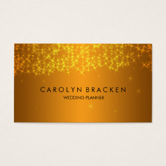 Elegant Beautiful Gold Sparkling Business Card