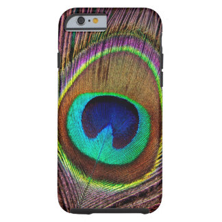 Elegant Beautiful Jewel Colored Peacock Feathers Tough iPhone 6 Case
