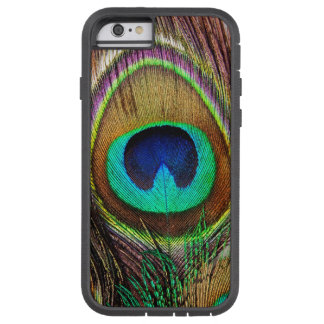 Elegant Beautiful Jewel Colored Peacock Feathers Tough Xtreme iPhone 6 Case