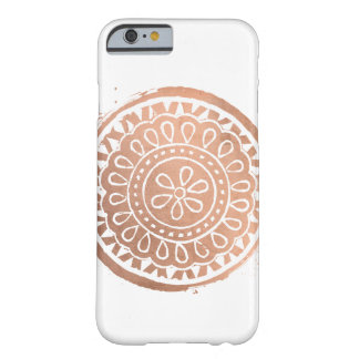 Elegant Beauty Boho Chic Rose Gold Mandala Barely There iPhone 6 Case