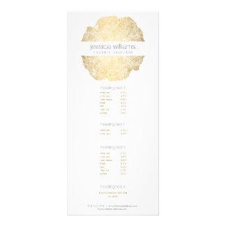 Elegant Beauty Gold Tree Ring Salon II Personalized Rack Card