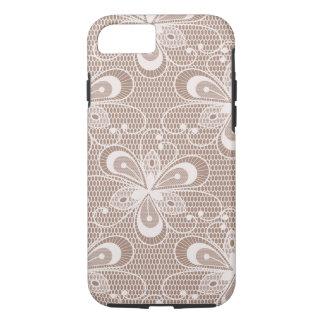 Elegant Beige Floral Lace Pattern iPhone 7 Case