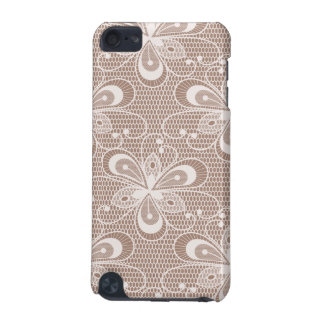Elegant Beige Floral Lace Pattern iPod Touch 5G Cases