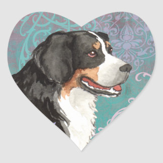 Elegant Berner Heart Sticker